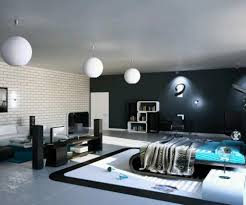 amazing bedroom design with blue bed sheet and dark gray blunket plus pedant lamps as bookcase amazing bedrooms designs