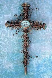 iron wall cross love: wall crosses images amazing lovequot nail wall cross
