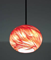 picture of rose globe blown glass pendant light blown glass lighting pendants