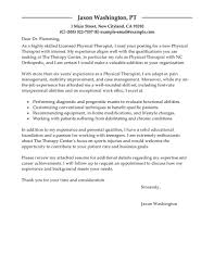 best physical therapist cover letter examples   livecareeredit