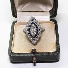 Bamos Cute <b>Female</b> Blue Finger Ring Big <b>Luxury CZ Stone</b> Ring ...