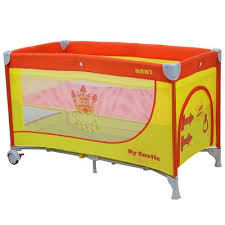 <b>Манеж</b> детский <b>MY CASTLE</b>, цвет оранжевый/жёлтый арт ...