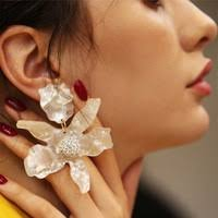 2019 exaggerated crystal earrings personality geometric triangle fashion pendant bridal jewelry