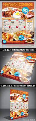 zing ice cream food menu templates designleo menu flyer template breakfast
