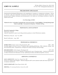 Wwwisabellelancrayus Gorgeous Free Printable Phlebotomy Resume And     Isabelle Lancray