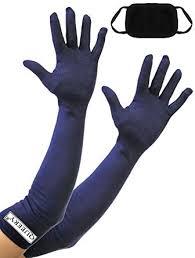 Buy QUEERY <b>Women's Cotton</b> Full Hand <b>UV Protection</b> Navy Blue ...