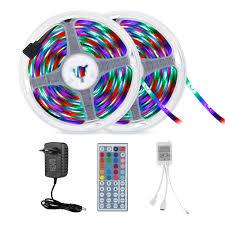 <b>HML 2pcs</b> x <b>5M</b> 24W Waterproof RGB 2835 SMD 300 LED Strip ...