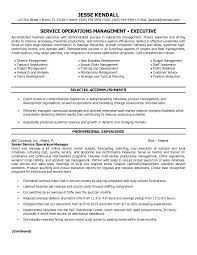 example service operations manager resume   free samplesample resume
