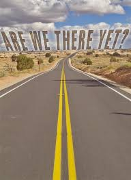 Image result for picture of words are we there yet