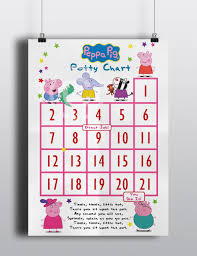 peppa pig potty chart potty training incentive chart daddy 128270zoom