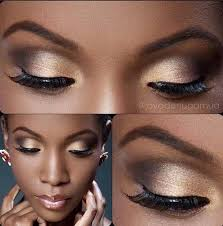 gold eyeshadow eye makeup ideas for black women everyday makeup look for dark skin tone by makeup tutorials at