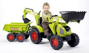 <b>Трактор</b>-<b>экскаватор педальный</b> с прицепом <b>FALK</b> FAL 1010W RT ...