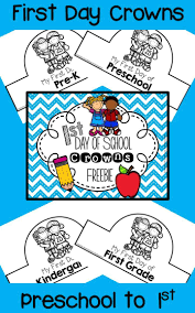 best ideas about preschool first day first day of school crowns for preschool to 1st grade the perfect project to