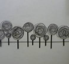 tree scene metal wall art: wire sculpture contemporary metal wall art quotwire spiral tree scenequot