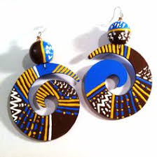 wooden <b>hand painted</b> earrings by <b>Abstract</b> Earrings & Accessories ...