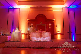 wireless uplighting with blue and amber uplights beautiful color table uplighting