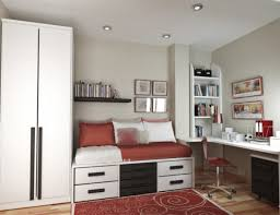 comely smart bedroom design ideas with white bed and white drawer uder bed also white desk interesting bedroom space saving furniture beauteous kids bedroom ideas furniture design