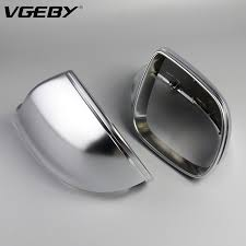 <b>1 Pair of Matte</b> Chrome ABS Rearview Mirror Shell Cover Side View ...