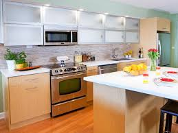 modern glass kitchen cabinets colored cabinet doors