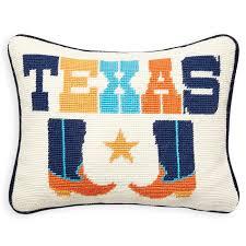 texas needlepoint throw pillow  modern décor  pillows  jonathan