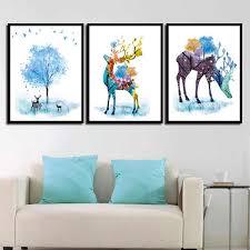 Canvas Artwork Prints <b>Modular</b> Painting Nordic <b>Poster</b> Watercolor ...