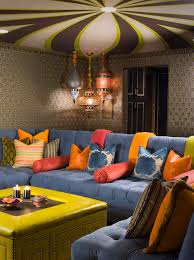 pretty moroccan fabric fashion los angeles eclectic family room innovative designs with accent ceiling accent color accent lighting family room