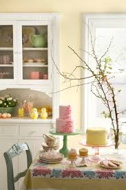 Country Dining Room Pink Yellow Green Birthday Party Country Dining Room The