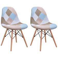 Goplus Set of <b>2 Pcs</b> Modern Dining Side Chair <b>Armless</b> Linen ...