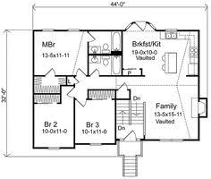 split level house plans   Three Bedroom Split Level  HWBDO    split level house plans   Plan W SL  Narrow Lot  Split Level  Traditional House