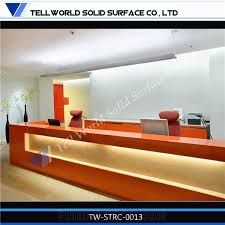 acrylic solid surface widely used modern hotelhospital reception counter acrylic lighted reception desk reception counter design