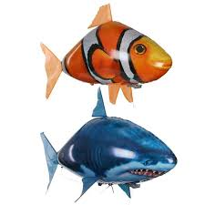 Children's Remote Control Toy Aerial <b>Flying Fish</b> Shark Clown Fish ...