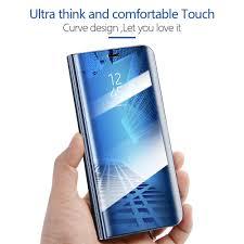 Luxury Mirror Clear View <b>Smart Flip Case For</b> Xiaomi Redmi Note 5 ...