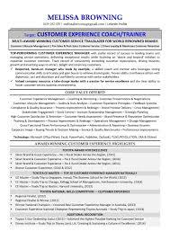 customer service manager total résumés certified executive ats resume example