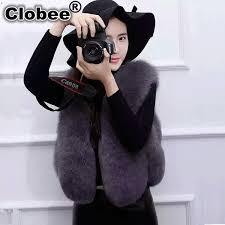 2019 Sexy <b>Women Short Faux</b> Fur Vest Coat <b>2018</b> 6XL Elegant ...