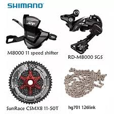 Shimano XT M8000 <b>4pcs bike bicycle mtb</b> 11 speed kit Groupset RD ...