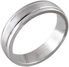 Обручальное парное кольцо из белого золота <b>Эстет</b> 01O020362 ...