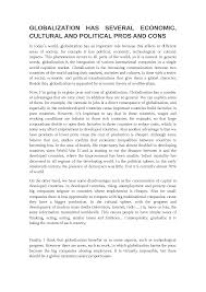essay globalization inglese livello b bicocca the document