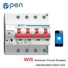 <b>OPEN</b> 4P 40A 125A <b>Remote</b> Control Wifi Circuit Breaker /Smart ...
