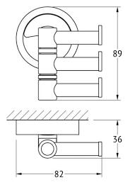 <b>Крючок поворотный тройной</b> FBS Esperado хром ESP 047 ...