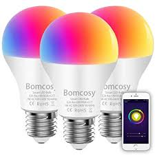 <b>Smart</b> Bulb <b>Wifi Led</b> Bulb E26 A19 <b>7W</b> 600LM Multicolored RGB ...