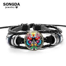 SONGDA Bohemia New Design <b>Women Leather Bracelet Unique</b> ...