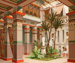Image result for temple roof garden egypt