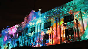 projection at light institute building facade superuber building facade lighting