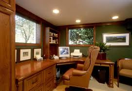 natural warm nuance home office cabinets design that has modern lighting can add the beauty inside add home office