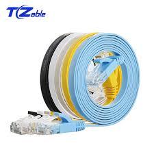 CAT6 RJ45 Flat Ethernet Cable Twisted Pair 1m 2m 3m 10m 20m ...