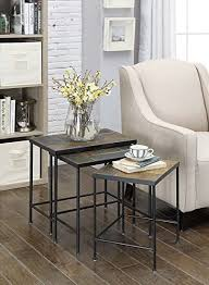 4D Concepts 3-Piece Nesting Tables with Slate Tops ... - Amazon.com