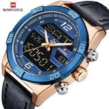 <b>NAVIFORCE Top Brand Men</b> LED Digital Military Sports Watches ...