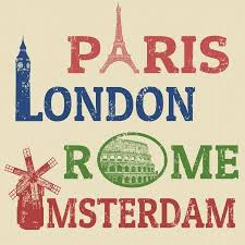 <b>Paris</b>,<b>London</b>,<b>Rome</b> And Amsterdam Grunge Stamps, <b>Famous</b> ...