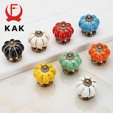 <b>KAK Pumpkin Ceramic</b> Handles 40mm Drawer Knobs Cupboard ...