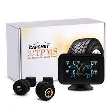 <b>CARCHET TPMS</b> LCD <b>Tyre Pressure</b> Monitoring System 4 External ...
